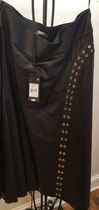 Derek Lam black leather skirt